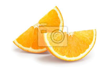 Plakat orange fruit slice isolated on white background