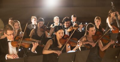 Plakat Orchestra performing