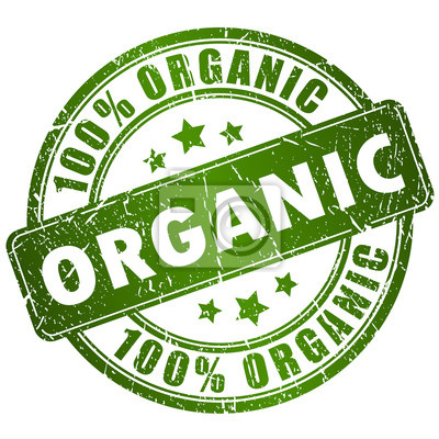 Plakat Organic vector stamp