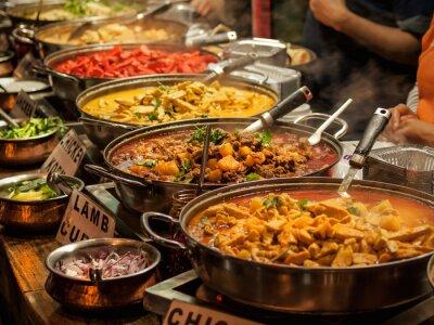 Plakat Oriental food - Indian z sobą na rynku londyńskim w