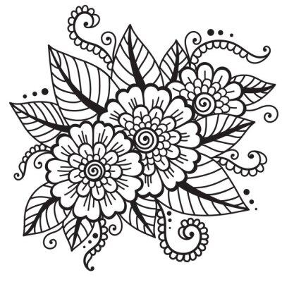 Plakat Orientalne ornament kwiat