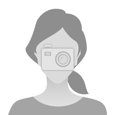 Plakat Osoba zdjęcie zastępcze szary kobieta