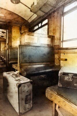 Plakat Ostatni rail wieku wnętrza samochodu