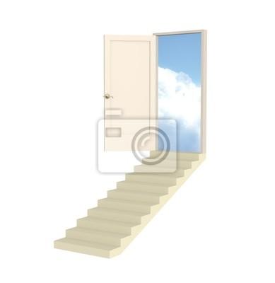 Otwórz 3d drzwi dyrygenturę w raju
