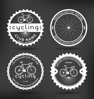 Plakat Oznaczenia rowerowe