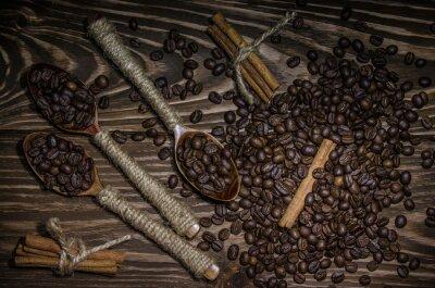 Plakat Palone ziarna kawy