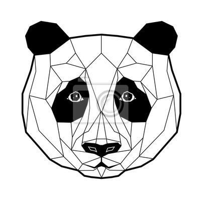 Panda stylizowany trójkątny model