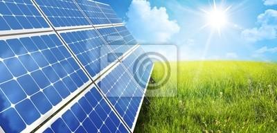 Plakat panel słoneczny