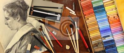 Plakat Panorama, akcesoria i narzędzia grafika