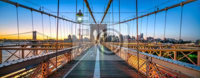 Plakat Panorama Brooklyn Bridge, Nowy Jork, USA