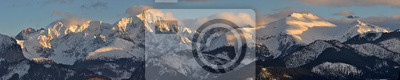 Plakat Panorama na Tatry Wysokie Zima