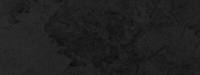 Plakat Panorama of Dark grey black slate background or texture. Black granite slabs background