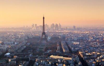 Plakat Panorama of Paris at sunset