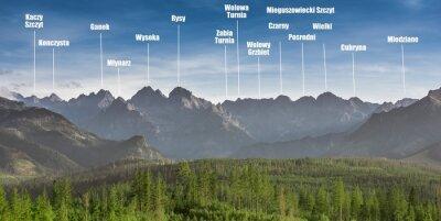 Plakat Panorama of Tatra Mountains