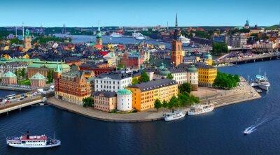 Plakat Panorama Stockholm, Szwecja