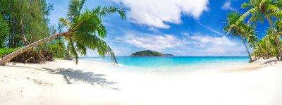 Plakat Panorama tropikalnej plaży w Tajlandii