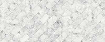 Plakat Panorama white marble stone texture for background or luxurious tiles floor and wallpaper decorative design.