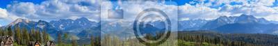Plakat Panorama. Widok na Tatry.Polska