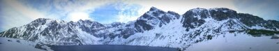 Plakat Panoramic View Of Snowcapped Mountains Against Sky