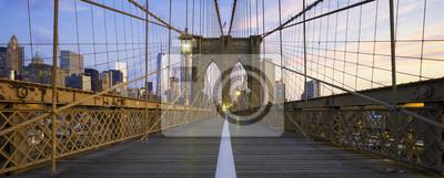 Plakat Panoramiczny widok z Brooklyn Bridge