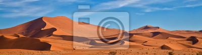 Plakat Panoramiczny wydmy Sossus, Namibia