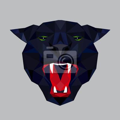 Panther stylizowany trójkątny model