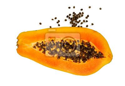 Plakat papaya isolated on white background