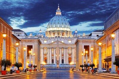 Plakat Papieska Bazylika świętego Piotra w Watykanie