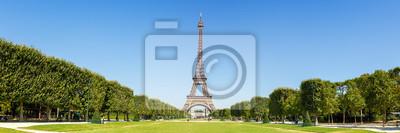 Plakat Paris Eiffel tower panorama France panoramic view travel