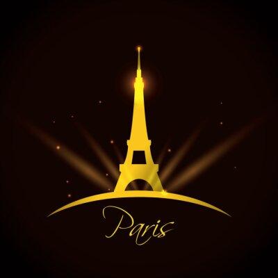 Plakat Paris projektowania, ilustracji wektorowych.