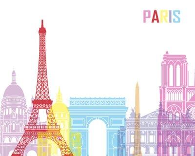 Plakat Paris skyline pop