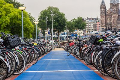 Plakat Parking dla rowerów w Amsterdamie