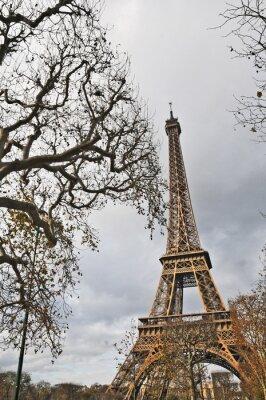 Plakat Paryż, La Tour Eiffel w Autunno