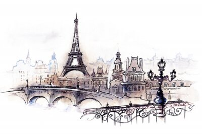 Plakat Paryż (seria C)