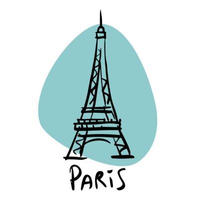 Plakat Paryż stolicą Francji wieży Eiffla