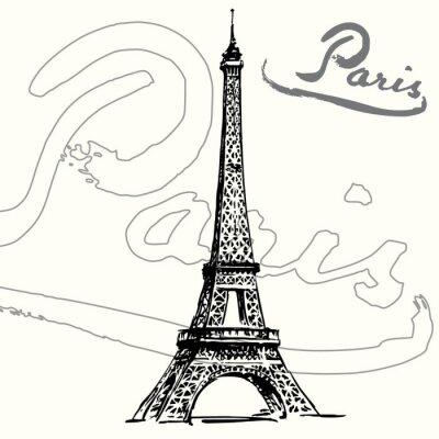 Plakat Paryż, Wieża Eiffla