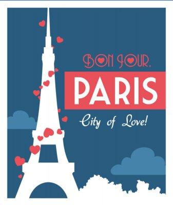 Plakat Paryż Zabytki projekt