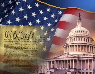 Plakat Patriotyczne symbole - Stany Zjednoczone Ameryki