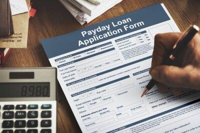 Plakat Payday Loan Application Form Wynagrodzenie Dług Concept
