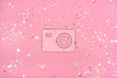 Plakat Pearl confetti on pink background.