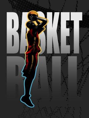 Plakat Pędy koszykarz