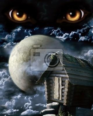 Plakat pełnia księżyca