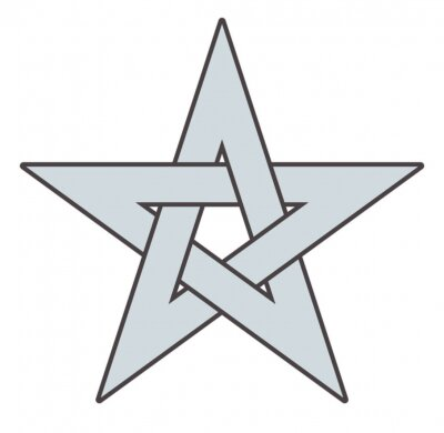 Plakat Pentagram Gwiazda Wektor