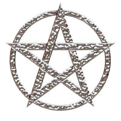 Plakat Pentagram kute Chrome