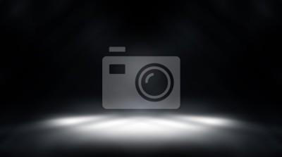 Plakat perspektywa piętro tło czarny pokój studio z szarym tłem reflektor tło dla wyświetlania produktu lub grafiki