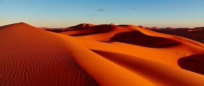 Plakat Piasek diuny w saharze, Merzouga, Maroko