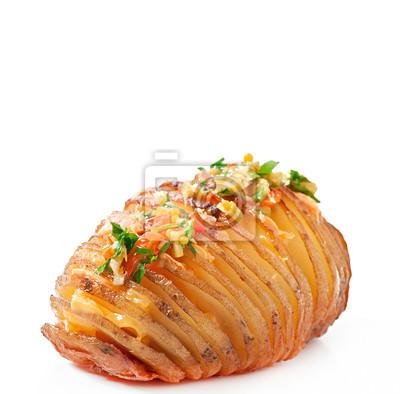 Pieczone ziemniaki z serem i masłem
