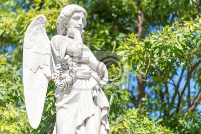 Plakat Piękna młoda kobieta na zewnątrz anioł