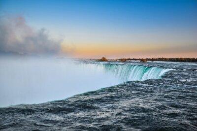 Plakat Piękna Niagara wody spada, Kanada