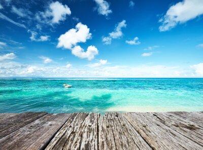 Plakat Piękna plaża na Seszelach